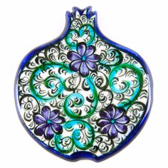 Nar Magnet (Çiçek) Granada, Pomegranate, Ceramic Art, Art Inspo, Magnets, Decorative Plates, Clay, Pottery, Ceramics