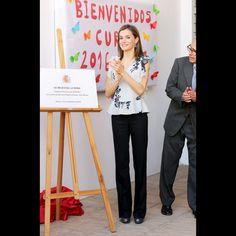 La reine Letizia d'Espagne à Almeria, le 13 septembre 2016