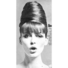 """Beehive Envy -- A true 1960's beehive, note the shape and """"beehive type cone""""  thus called a beehive."""
