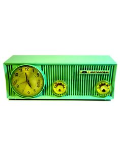 Green Motorola Radio by 3ryan Radios: One-of-a-Kind Antique Docking Stations for iPods
