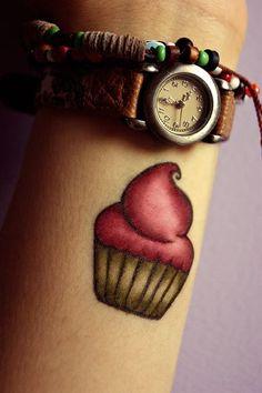 Cupcake arm tattoo! :3