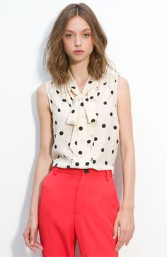 Hot Dot Silk Top--Marc by Marc Jacobs.  A perfect professional top!