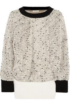 CHLOÉ Open-Knit Cotton-Blend Sweater. #chloé #cloth #sweater