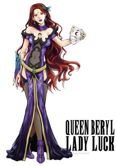 Queen Beryl - Lady Luck by ~AkiDead on deviantART - These are amazing and I need to pin ALL of them XD