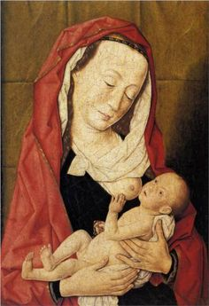 Thierry Bouts (Dutch: 1415-1475) - Virgin and Child (1455)