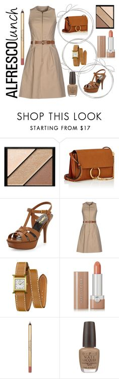 """Alfresco Lunch"" by lullulu ❤ liked on Polyvore featuring Elizabeth Arden, Chloé, Yves Saint Laurent, Michael Kors, Hermès, Marc Jacobs and OPI"
