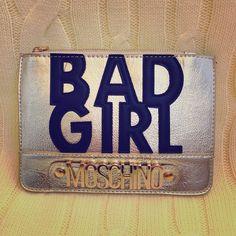 Moschino Bags - Moschino Bad Girl Gold Clutch