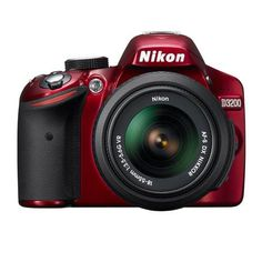 Nikon D3200 24 Megapixel Digital SLR Camera Kit - Red $509.99 #coupay #photography