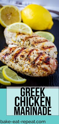 Nice This Greek chicken marinade is easy to mix up and adds so much flavour to your c. This Greek chicken marinade is easy to mix up and adds so much flavour to your chicken. Marinate and then grill or bake, or freeze for later! Chicken Marinade Recipes, Chicken Marinate, Grilling Recipes, Gourmet Recipes, Cooking Recipes, Healthy Recipes, Greek Marinade For Chicken, Mediterranean Chicken Marinade, Baked Greek Chicken