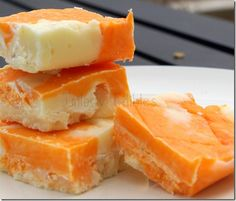 Creamsicle Fudge for Treat Day!