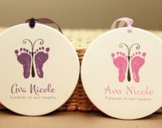 Three Forever in our hearts ornament Baby loss von MyForeverPrints