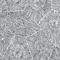 large petoskey stone in black and white fabric by weavingmajor on Spoonflower - custom fabric