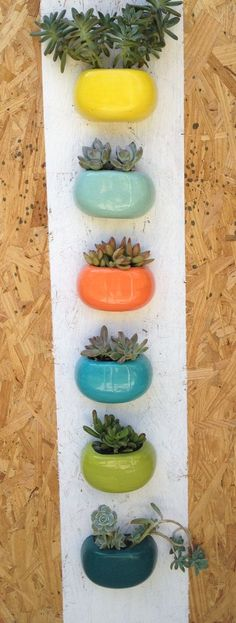 Modern wall or desktop planter by LunaReece on Etsy, $16.00: