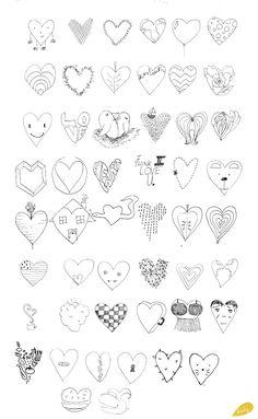 Jim Dine 50 Hearts 50 ways challenge