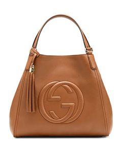 Gucci Soho Medium Leather Shoulder Bag, Dusty Blush Cognac #Totes #Handbags #Gucci