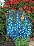 Hollyhocks Painted Garden Rocks, Painted Rocks Craft, Hand Painted Rocks, Painted Stones, Pebble Painting, Pebble Art, Stone Painting, Painting Flowers, Rock Painting