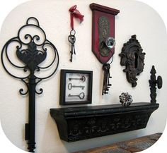 Love this vignette...great for an entryway...I have a collection of my own