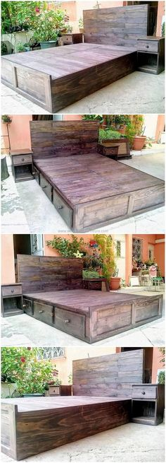 We all are always in search less space taking furniture. So we came up with wonderful creative idea of reusing wood pallets into wooden pallets bed. Recycle the used wood pallets to design a soothing sitting arrangement in your room. Turn your raw material into something worth complementing.