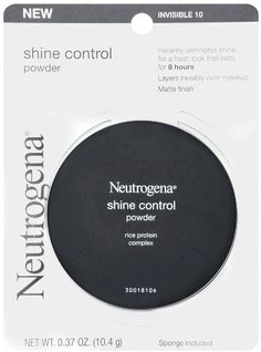 Neutrogena Shine Control Powder Invisible Ounce (Pack of Instantly eliminates shine for a fresh look that lasts for 8 hours. Layers invisibly over makeup. Perfect for on-the-go touch ups. Won't over dry skin or clog pores. Best Powder, Best Natural Skin Care, Johnson And Johnson, Makeup Kit, Face Makeup, No Foundation Makeup, Face Powder, Drugstore Makeup, Neutrogena