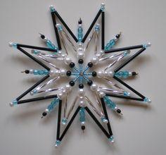 Beaded Snowflake, Beaded Ornaments, Christmas Cards, Christmas Ornaments, Snowflakes, Stars, Creative, Holiday, Handmade