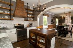 HGTV Fixer Upper...... Love this kitchen. This is from the house that was dubbed Little House on the Prairie house......