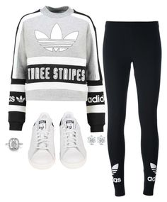 """""""Untitled #389"""" by katiemarte ❤ liked on Polyvore featuring adidas Originals and adidas"""