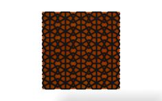 Vicoustic's Diamond pattern with black frame and orange fabric.
