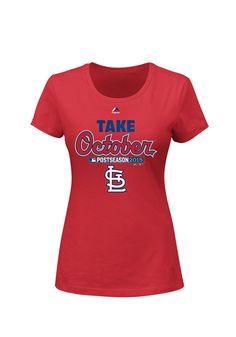 St. Louis Cardinals Women s Red Post Season Short Sleeve Tee http   www 1fdac2380