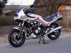 Honda CBX 750F. Purchased mine in March 1984. Really nice bike to ride in every way. Very rare these days as they were only made for one year.GD.