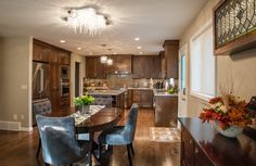 Refreshed Interior & Exterior in Brentwood Kitchen Gallery, Dining Rooms, Interior And Exterior, Galleries, Kitchens, Group, Luxury, Table, Furniture