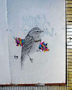 beautiful illustration as graffiti