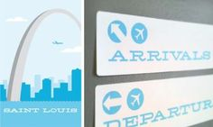 arrival/departure sign on front and back of front door