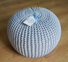 Hey, I found this really awesome Etsy listing at https://www.etsy.com/listing/446524364/knitted-pouf-colours-grey-seat-crochet
