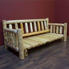 Cedar Lake Cabin Easy Glide Log Futon by JHE's Log Furniture Place