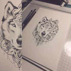 #wolf #wolftattoo #mandala #mandaladesing #mandalatattoo #tattooart #tattoodesign #turkutattoo #soulskintattoo