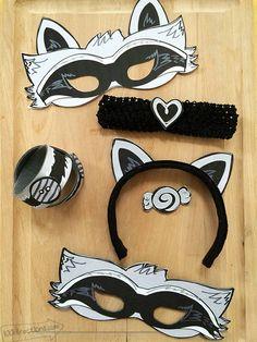 DIY Raccoon Costume with Printable Mask