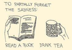read and drink tea