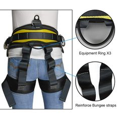Pin it for later. Find out More rock climbing harness. This safety harness is perfect for mountaineering and rock climbing, Outward Bound,SRT, fire rescue, working from heights, construction, demolition, tree climbing, roofing, camping, firefighting from trees, and a wide range of outdoor activities.