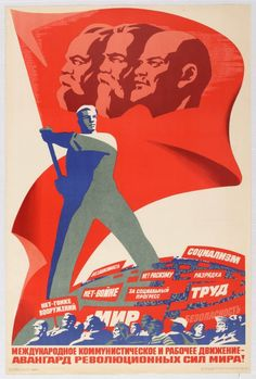 """Lot of the Day"" - Soviet Propaganda Poster by Briskin: International Communist and Worker Movement 1982 Russia - Original Vintage Poster Collector Auction 23 July. This auction features posters from around the world with low starting prices, most from only £5. Visit http://www.antikbar.co.uk/news_and_events/detail/?nId=166 to view our catalogue and register to bid. AntikBar.co.uk"