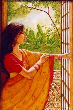 Shuchi Krishan - oil paintings on ancient Indian architecture and of the world, contemporary Indian woman, harelis and forts of Rajasthan, mud and glass murals. Indian Women Painting, Indian Art Paintings, Oil Paintings, Indian Folk Art, Indian Artist, Ancient Indian Art, Woman Painting, Painting Art, Rajasthani Painting