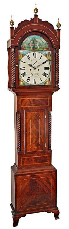 Adam & Eve Automata Longcase Clock by Stenlake of Tavistock