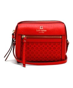 Love this Empire Red Looloo Perri Lane Bubbles Crossbody Bag by Kate Spade on #zulily! #zulilyfinds