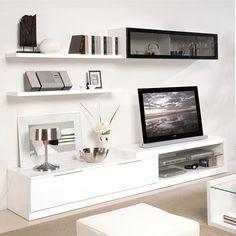 Kệ tivi 004 - Nội thất phòng khách VinWood Living Room Wall Units, Living Room Designs, Tv Shelf, Shelves, Modern Tv Units, Tv Wall Design, Interior Design, Tv Walls, Home Decor
