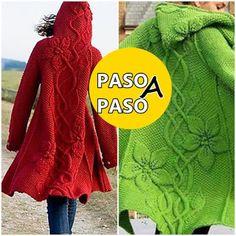 Chaqueta en dos agujas paso a paso Crochet Coat, Knitted Coat, Crochet Baby, Knit Cardigan Pattern, Baby Dress, Knitting Patterns, Sweaters, Hobbies, Fashion