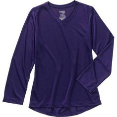 Danskin Now Girls' Long Sleeve Active Tee, Size: 4/5, Blue