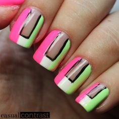 Paint All The Nails presents Neon • Casual Contrast
