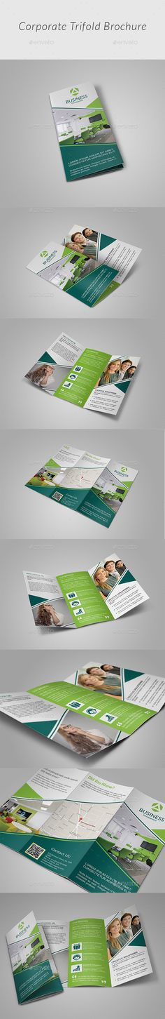 Buy Tri-fold Brochure by Mugli on GraphicRiver. Adobe Photoshop Fully Layered PSD files Easy Customizable and Editable Easy To Use Your Own Photos(Smart Object O. Booklet Design, Brochure Design, Brochure Template, Flyer Design, School Brochure, Corporate, Free Fonts Download, Creative Design, Packaging Design