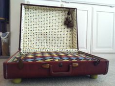We made a dogbed out of an old suit case... Dana