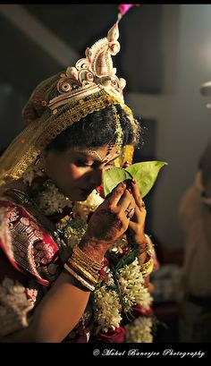 Bengali wedding (Bengali: বিয়ে,বিবাহ) includes many rituals and ceremonies that can span several days. Although Muslim and Hindu marriages have their distinctive religious rituals, there are many common Bengali rituals in weddings across both West Bengal and Bangladesh  A traditional wedding is arranged by Ghotoks (matchmakers), who are generally friends or relatives of the couple. The matchmakers facilitate the introduction, and also help agree the amount of any settlement.  In Muslim…