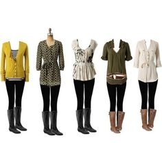 legging and boots outfits. I wish I could live on leggings!